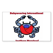 BWI Southern Maryland crab logo Decal