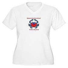 BWI Southern Maryland crab logo Plus Size T-Shirt