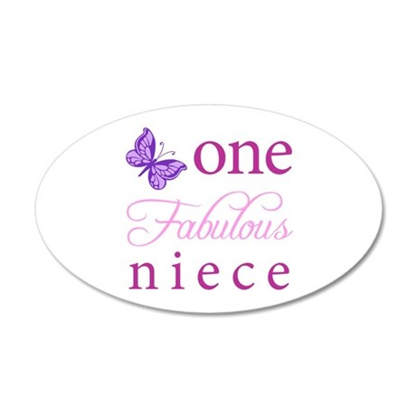 One Fabulous Niece 20x12 Oval Wall Decal