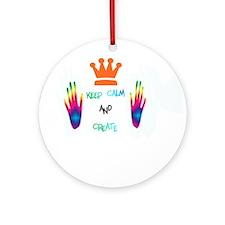 Keep Calm and Create Ornament (Round)