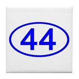 Number 44 Oval Tile Coaster