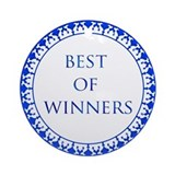 Best Of Winners Ornament (Round)
