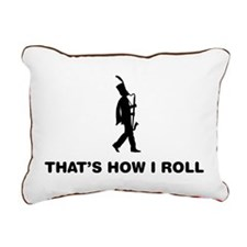 Bass Clarinet Player Rectangular Canvas Pillow