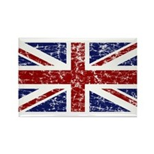 """""""Red Navy Union Jack"""" Rectangle Magnet"""