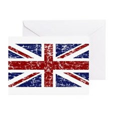"""""""Red Navy Union Jack"""" Greeting Cards (Pk of 10)"""