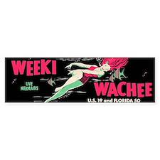 Weeki Wachee Vintage Replica Bumper Sticker