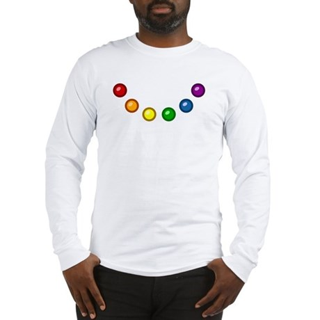 Rainbow Baubles Long Sleeve T-Shirt