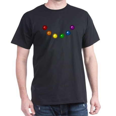 Rainbow Baubles Dark T-Shirt