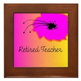 Retired TEacher Flower 2 Framed Tile