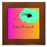 Retired Principal Blue Fuschia Framed Tile