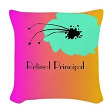 Retired Principal Blue Fuschia Woven Throw Pillow