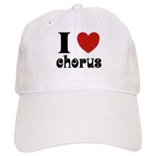 I Love Heart Chorus Baseball Cap