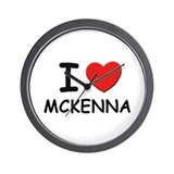 I love Mckenna Wall Clock