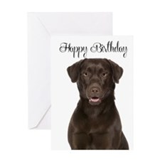 Chocolate Lab Birthday Card