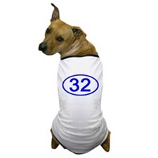 Number 32 Oval Dog T-Shirt