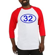 Number 32 Oval Baseball Jersey