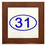 Number 31 Oval Framed Tile