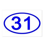 Number 31 Oval Postcards (Package of 8)