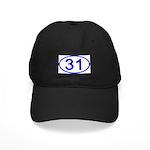 Number 31 Oval Black Cap