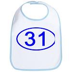 Number 31 Oval Bib