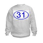 Number 31 Oval Kids Sweatshirt