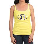 Number 31 Oval Jr. Spaghetti Tank