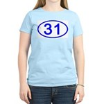 Number 31 Oval Women's Pink T-Shirt