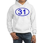 Number 31 Oval Hooded Sweatshirt