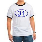 Number 31 Oval Ringer T