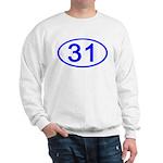Number 31 Oval Sweatshirt
