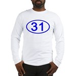 Number 31 Oval Long Sleeve T-Shirt