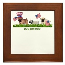 Pug Parade Framed Tile