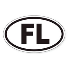 Florida FL Euro Oval Sticker (non-branded)