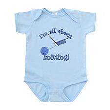 Yarn and Knitting Needles Infant Bodysuit