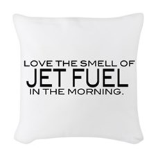 jetfuel_bk.png Woven Throw Pillow