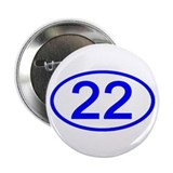 "Number 22 Oval 2.25"" Button (100 pack)"