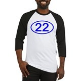 Number 22 Oval Baseball Jersey