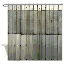 Rustic Rusty Tin Grunge Shower Curtain