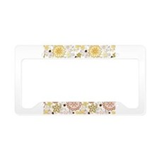 Full Bloom License Plate Holder