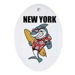 New York Ornament (Oval)