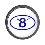 Number 8 Oval Wall Clock