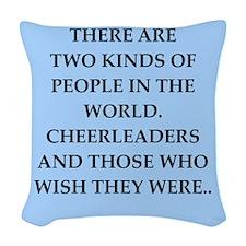 CHEERLEADERS Woven Throw Pillow