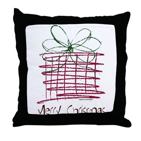 MERRY CHRISTMAS ART Throw Pillow