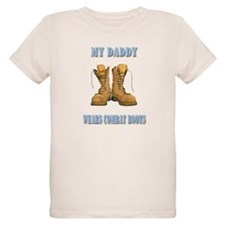 My Daddy Wears Combat Boots (Blue) T-Shirt