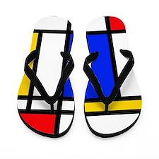 'Modern Art' Flip Flops
