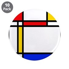 "'Modern Art' 3.5"" Button (10 pack)"