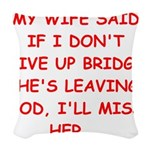 BRIDGE.png Woven Throw Pillow