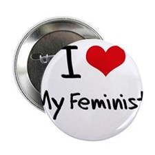 "I Love My Feminist 2.25"" Button"