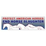 Anti-Horse Slaughter Bumper  Bumper Sticker