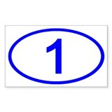 Number 1 Oval Rectangle Bumper Stickers